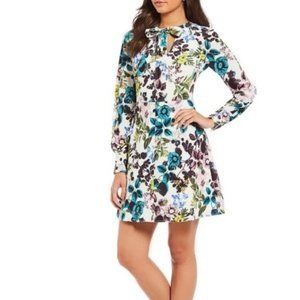 ELIZA J Ivy Pebble Crepe Floral Dress NWOT